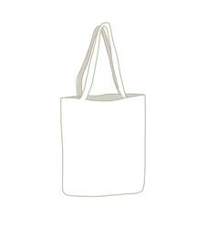 linen shopping bag sketch for your design vector image