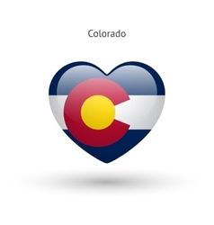 Love Colorado state symbol Heart flag icon vector image