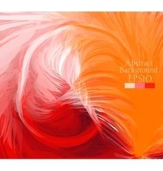 Macro feathers White orange red vector