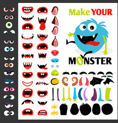 Make a monster icons set vector
