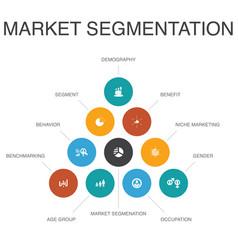 Market segmentation infographic 10 steps concept vector