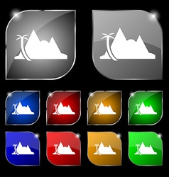 Mirage icon sign Set of ten colorful buttons with vector