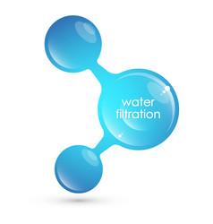 Molecule symbol for filtering water vector