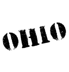 Ohio stamp rubber grunge vector