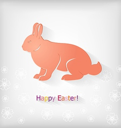 rabbit back vector image