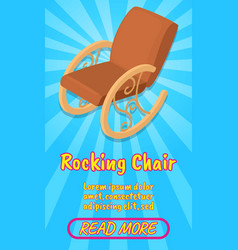 rocking chair concept banner comics isometric vector image