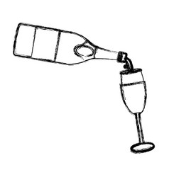 serving champagne on cup vector image