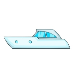 Sports powerboat icon cartoon style vector