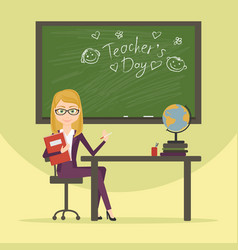 Teacher character cartoon flat style vector
