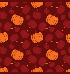 thanksgiving and autumn pumpkin seamless pattern vector image