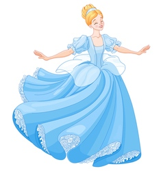 The Ball Dance of Cinderella vector image