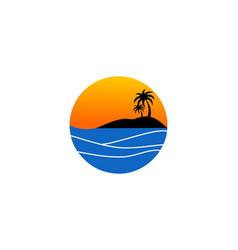 Travel summer logo holiday tour island vector
