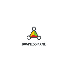 triangle colored technology business logo vector image