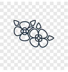two flowers concept linear icon isolated on vector image
