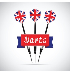 Uk darts vector