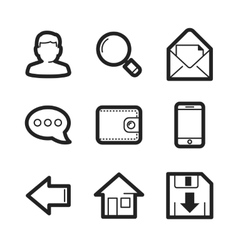 Universal web signs collection vector