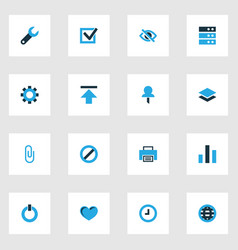 User colorful icons set collection of conceal vector