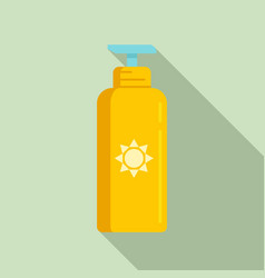 Uv protection lotion icon flat style vector