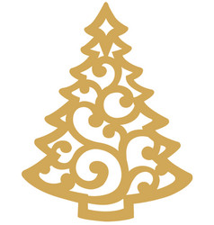 Xmas tree stilized vector