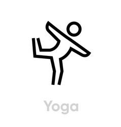 yoga sport icon vector image