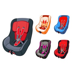 Child car seat vector image vector image