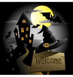 witch house vector image
