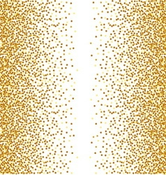 Abstract golden confetti background vector image vector image