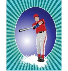 baseball poster vector image vector image