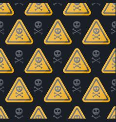 danger sign flat seamless pattern vector image vector image