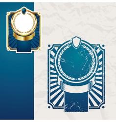 golden vintage blue frames vector image vector image