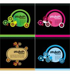 stylish templates vector image vector image