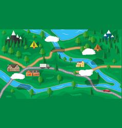 suburban nature map vector image