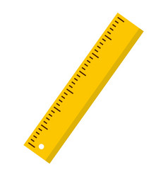 yellow ruler icon isolated vector image vector image