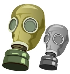 Old rubber gas mask on white background vector image vector image