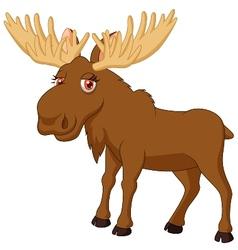 Cute moose cartoon vector image vector image