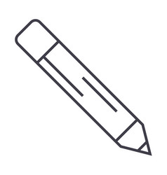 pencil line icon sign on vector image vector image