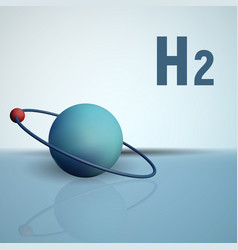 a hydrogen atom with an electron chemical model vector image