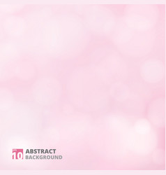abstract of bokeh pattern on pink background vector image