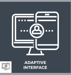 adaptive interface thin line icon vector image