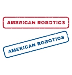 American Robotics Rubber Stamps vector