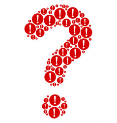 answer mosaic of problem icons vector image