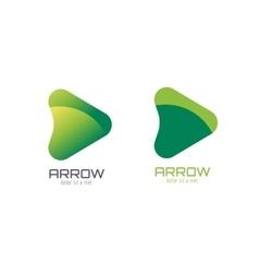 arrow abstract logo template Up arrow vector image