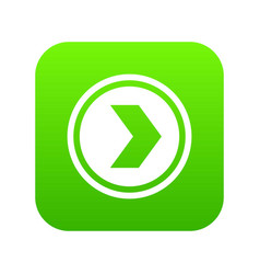 arrow to right in circle icon digital green vector image