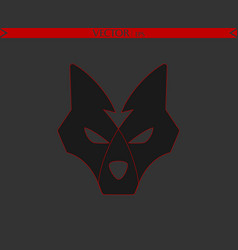 arrow wolf logo vector image