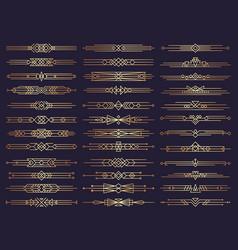 Art deco borders retro dividers shapes decorative vector