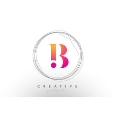 Artistic b letter logo design with creative vector
