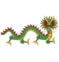 asian dragon print vector image