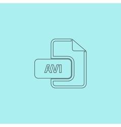 AVI video file extension icon vector image