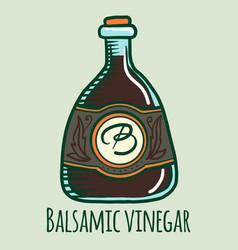 Balsamic vinegar icon hand drawn style vector