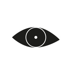 black eye view icon vector image